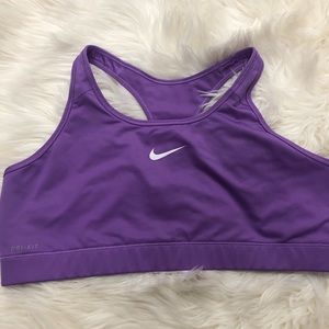Nike • dri-fit Purple Sports bra